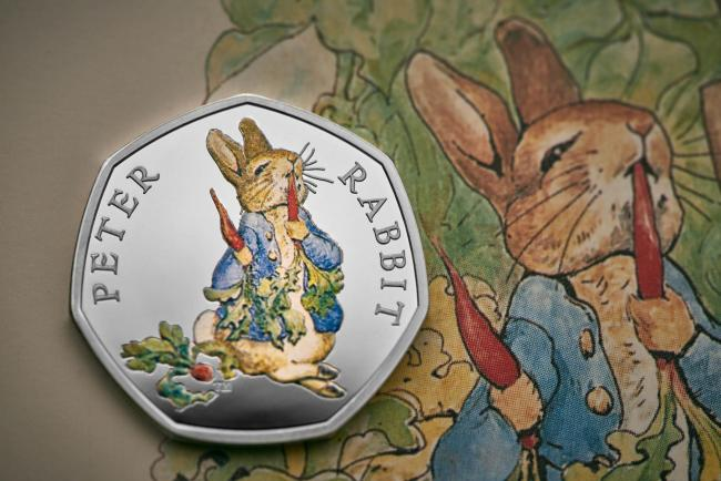 The Royal Mint unveils its 2018 Beatrix Potter limited edition commemorative coins, featuring four of her best-loved characters: Peter Rabbit, Flopsy Bunny, Mrs. Tittlemouse and The Tailor of Gloucester