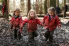 Mud, mud, glorious, mud ... youngsters in their element in Pollok Country Park, Glasgow.Picture: Colin Mearns