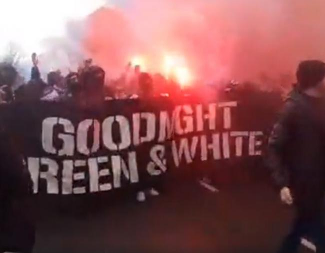 Hundreds Join Rangers V Celtic March Plugged By Sectarian Flyer In Defiance Of Police