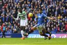 Odsonne Edouard makes it 3-2 to Celtic at Ibrox.