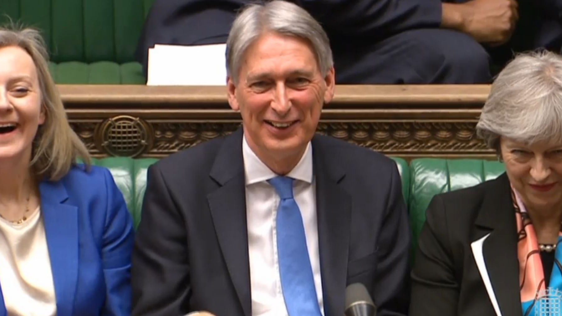 Hammond buoyed by positive forecasts on borrowing, debt and growth