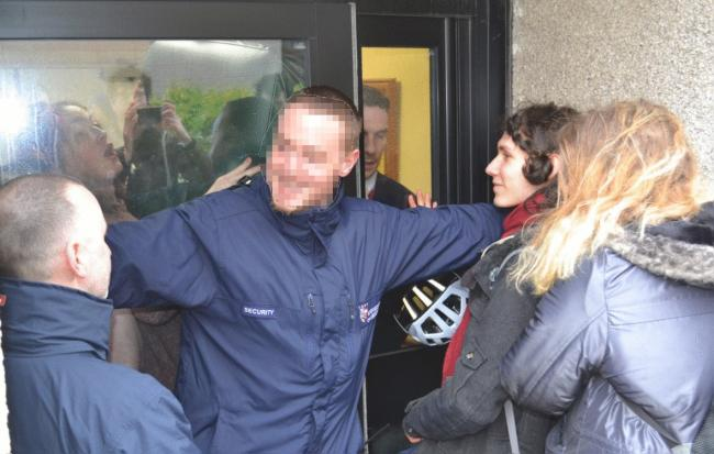 Video: Police called over ugly scenes at Scots students' sit-in