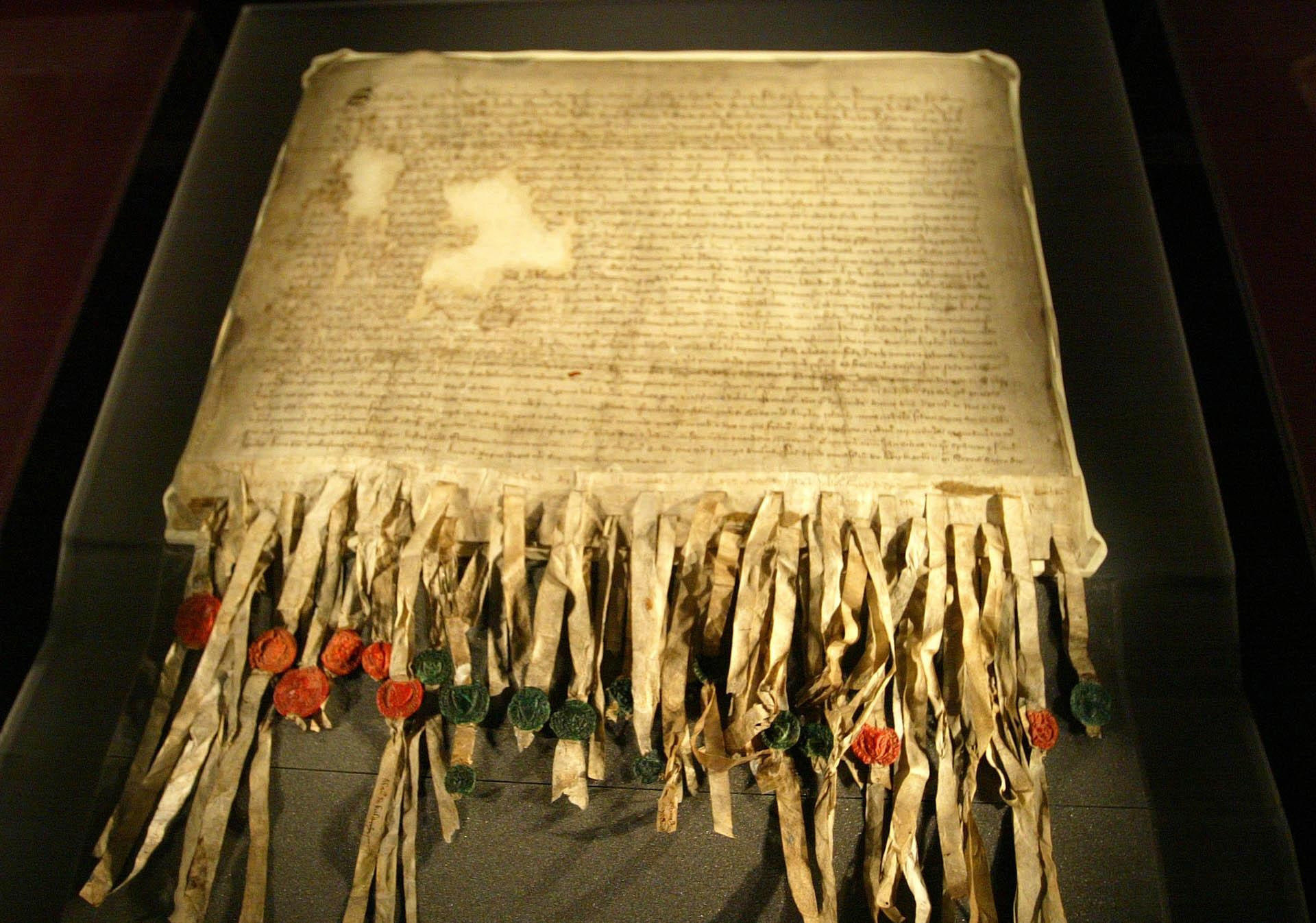 Possibly Scotland's most famous Latin document – the Declaration of Arbroath.