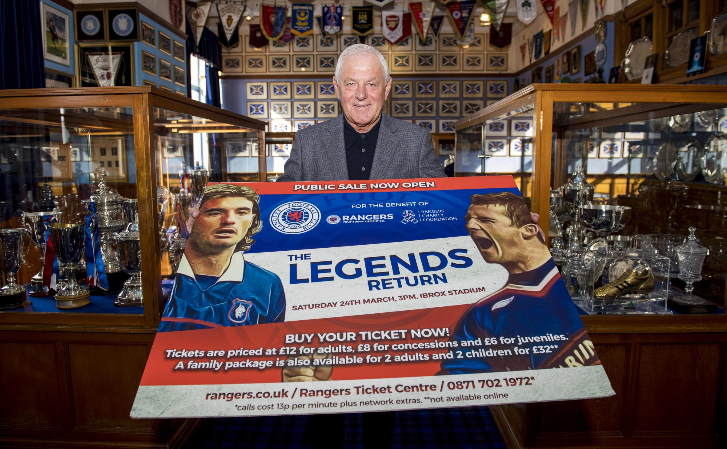 Former Rangers manager Walter Smith promotes the upcoming Rangers Legends game on the 24th of March