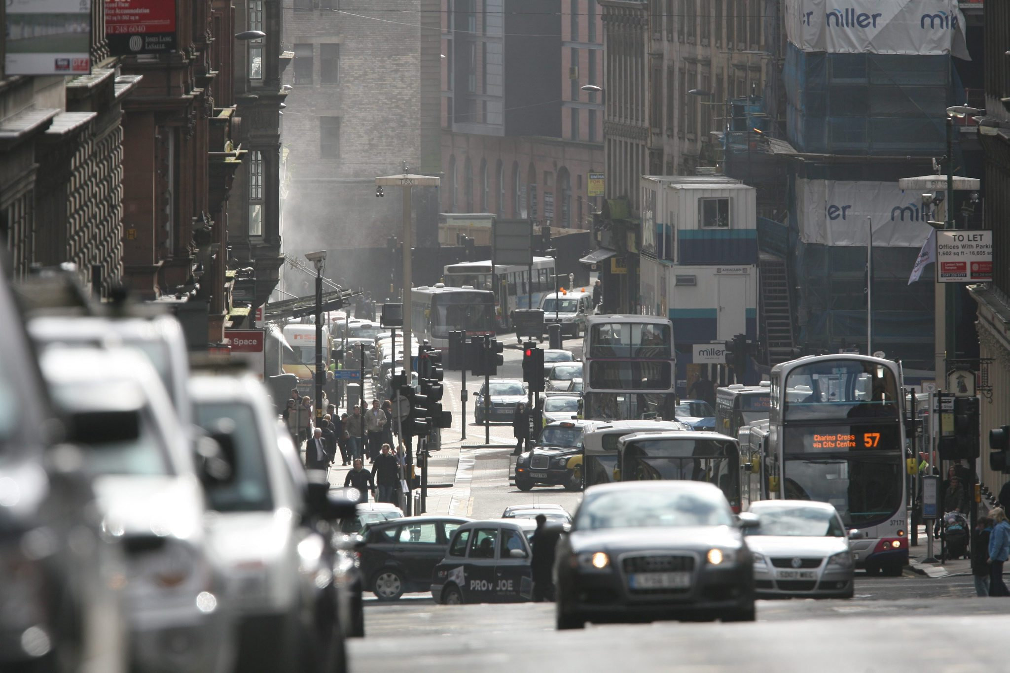 Glasgow's Hope Street named most polluted in Scotland as figures show country is 'stalling' on air quality