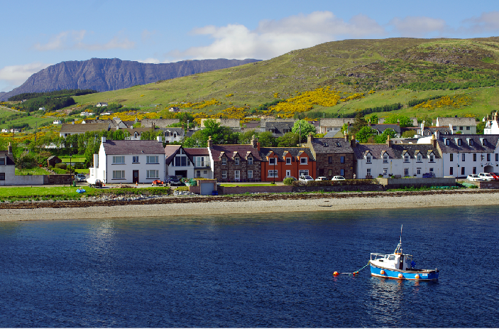 Ullapool attracts visitors from across the UK.