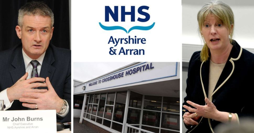 John Burns (left) is seeking £23 brokerage loans to offset a £23m deficit at NHS Ayrshire and Arran