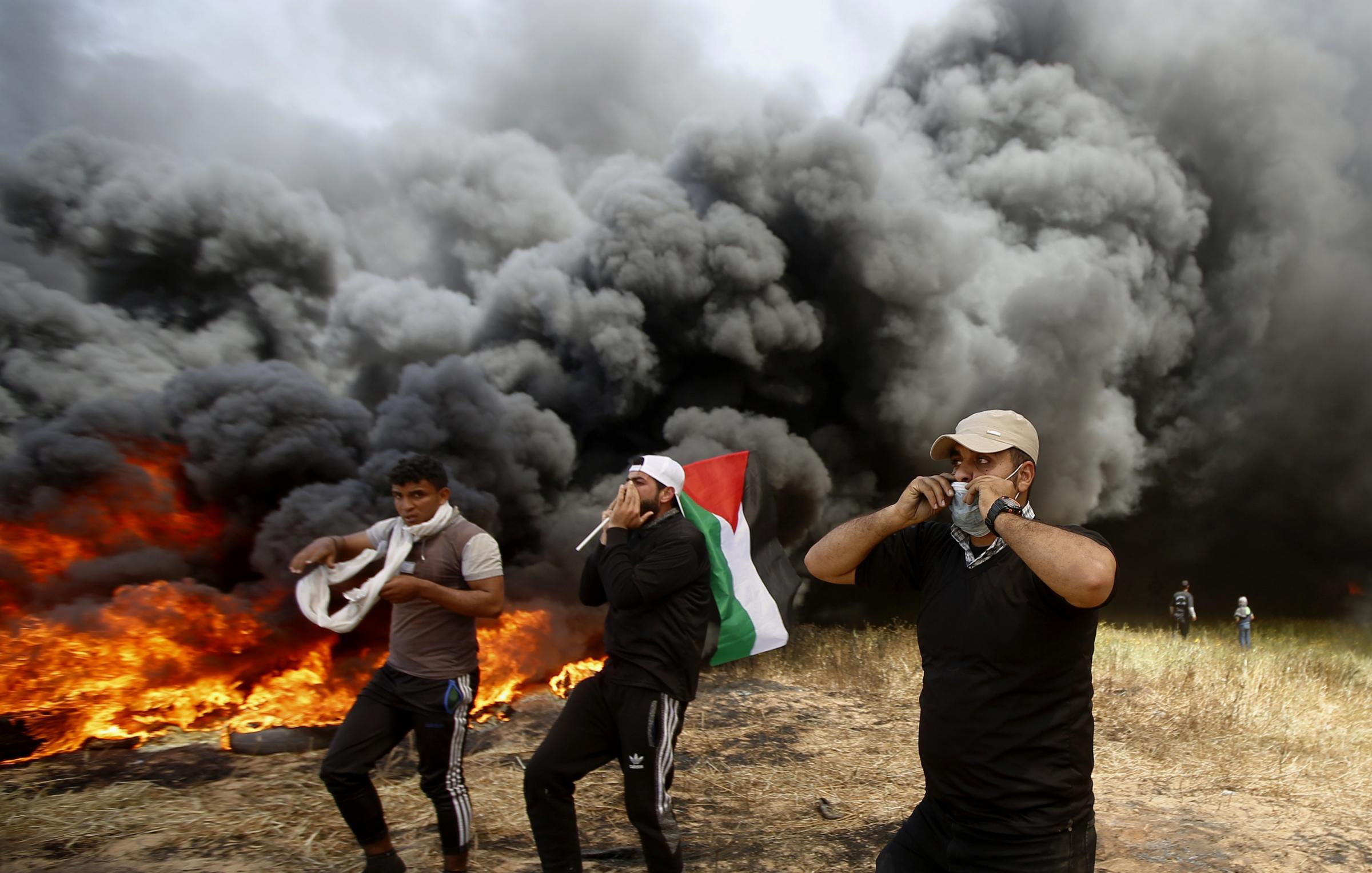 Nine killed and scores wounded by Israeli fire in Gaza protest