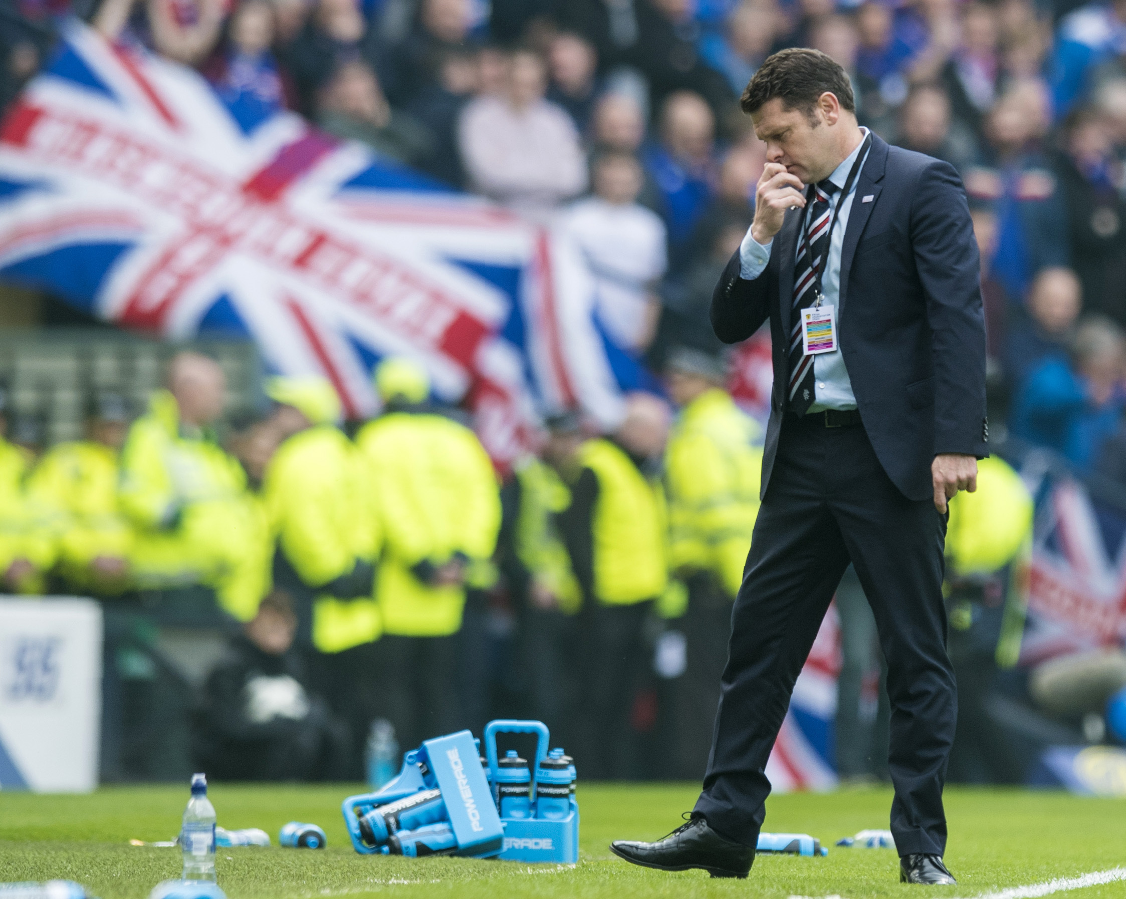 Rangers manager Graeme Murty is frustrated.