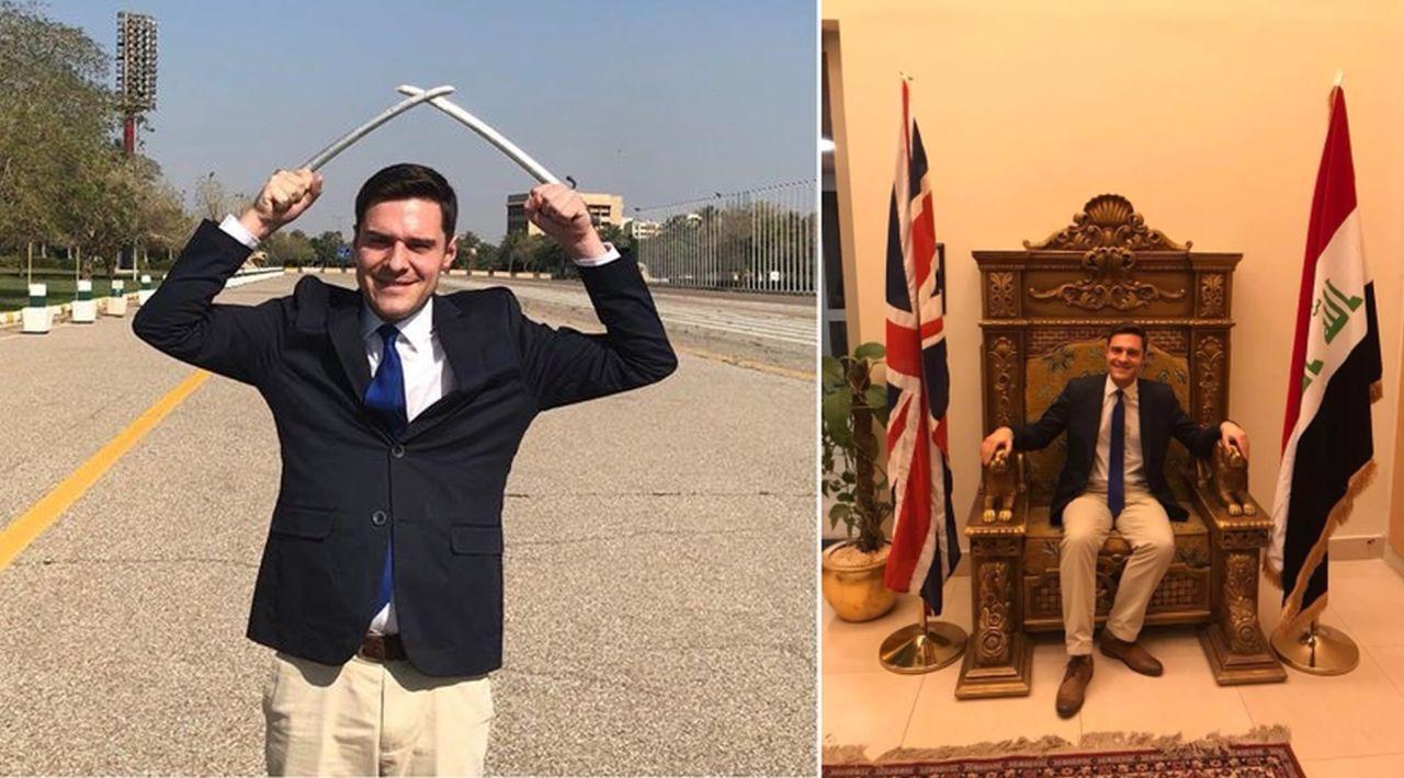Scottish Conservative MP Ross Thomson in Iraq