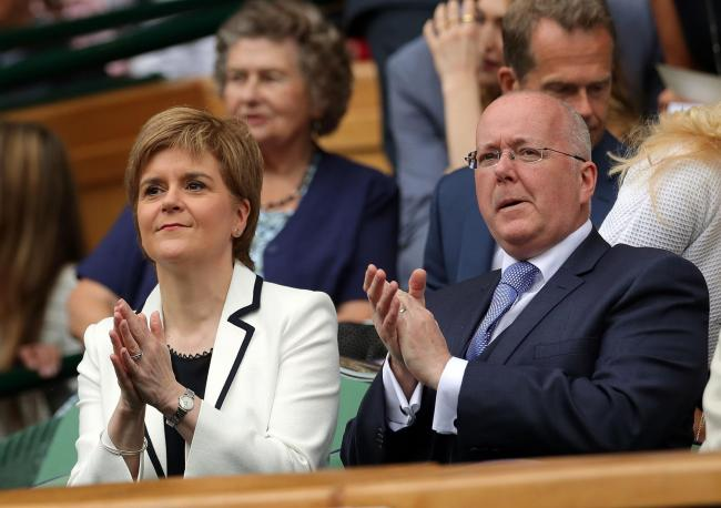 SNP leader Nicola Sturgeon with husband and party chief executive, Peter Murrell