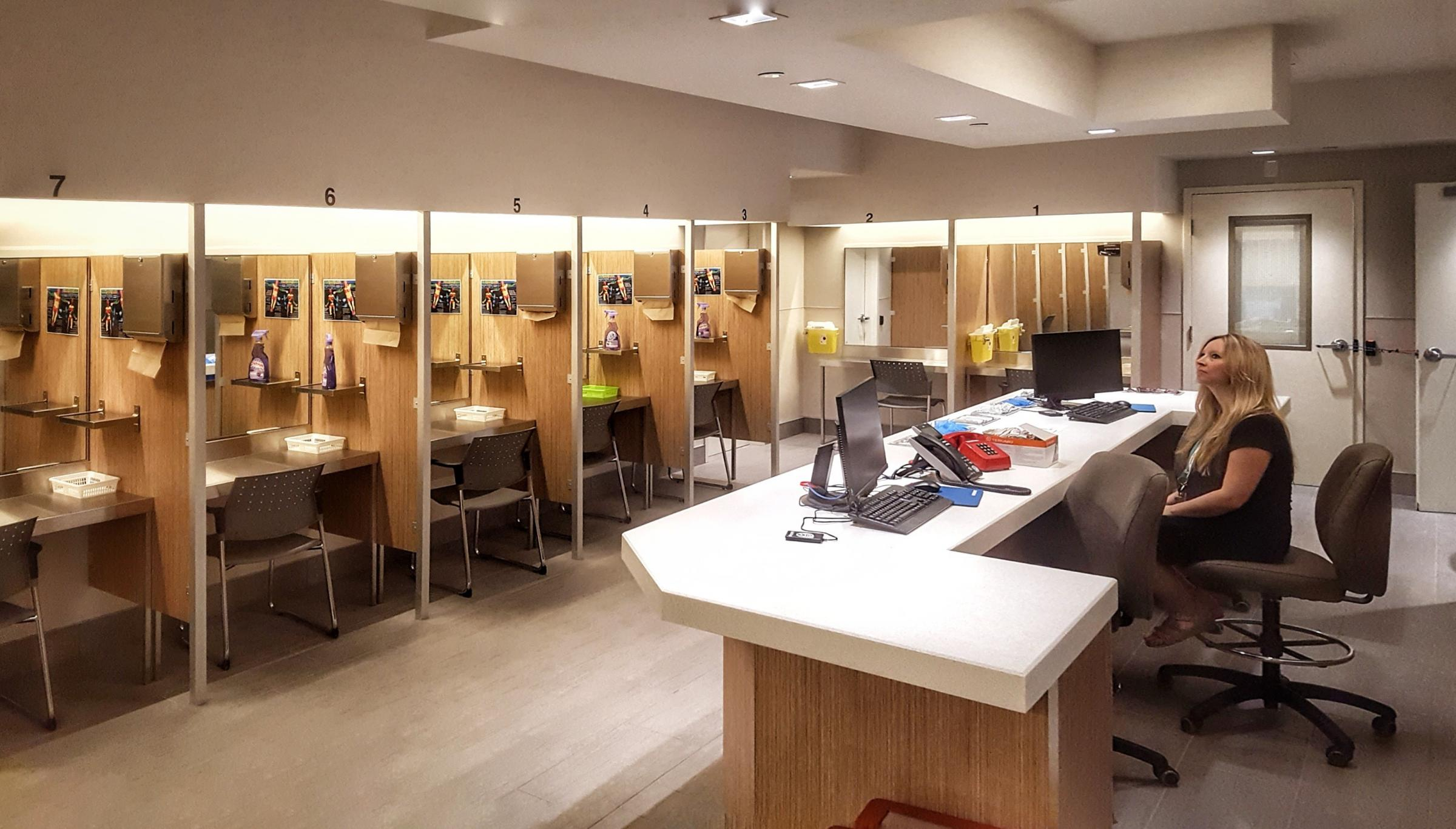 The latest safe injecting centre to open, in Montreal, Canada
