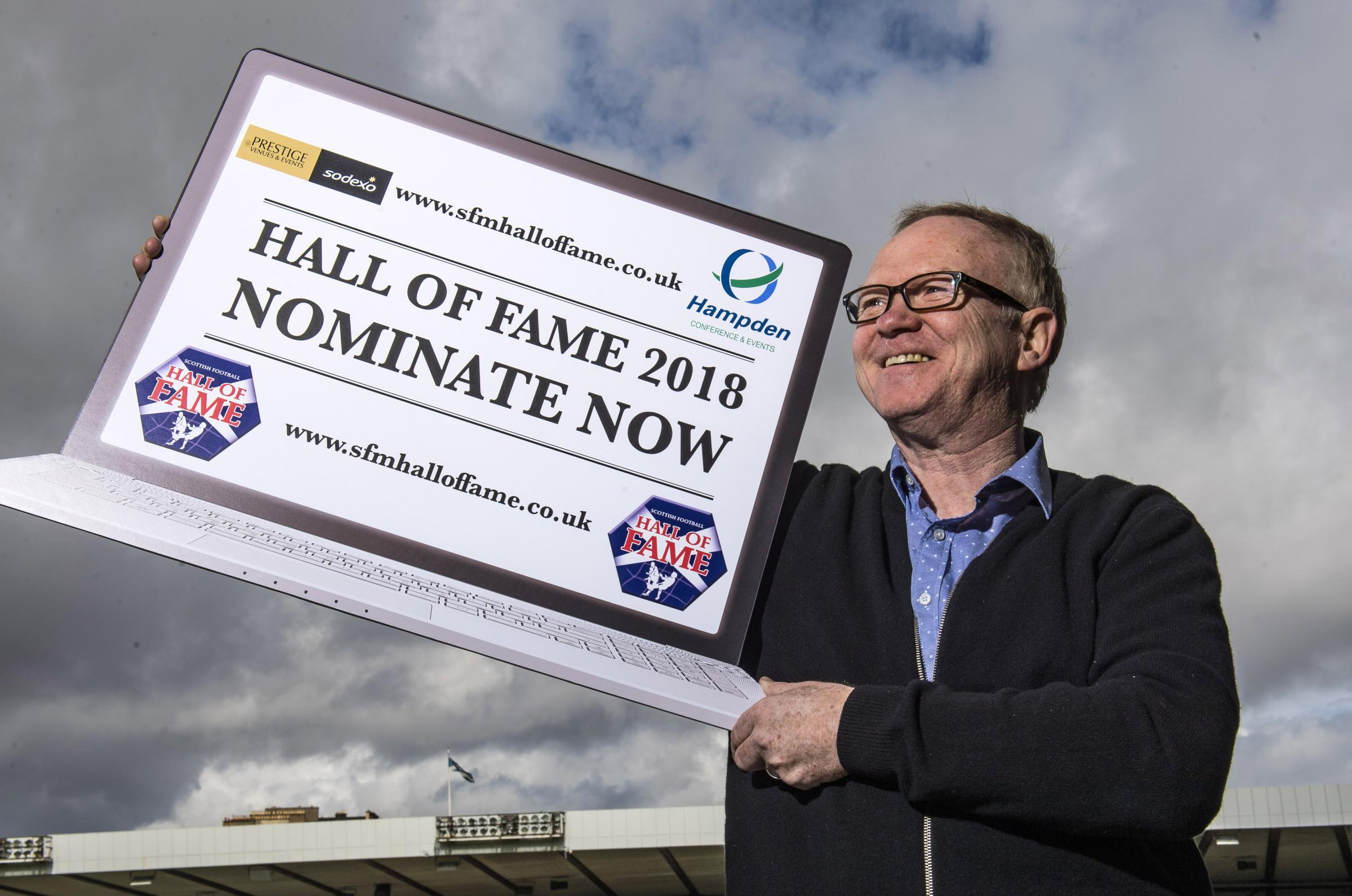 25/04/18 . HAMPDEN PARK - GLASGOW . Scotland manager Alex McLeish is on hand to promote the Hall of Fame 2018 Dinner on Sunday 21st of October.