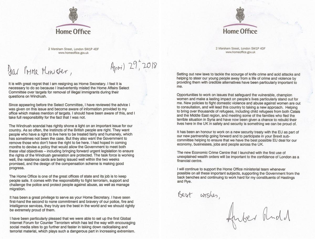 Amber rudds resignation letter in full heraldscotland amber rudds resignation letter in full thecheapjerseys Image collections