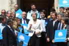 Relief: May addresses Tory activists in Wandsworth after Labour failed to take Tory stronghold