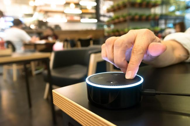 Give me an eh? An Amazon voice recognition device