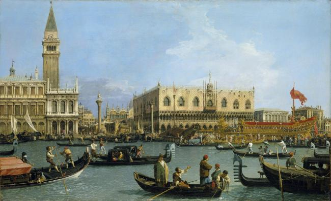 Venice: The Bacino di San Marco on Ascension Day, by Canaletto, c1733-34