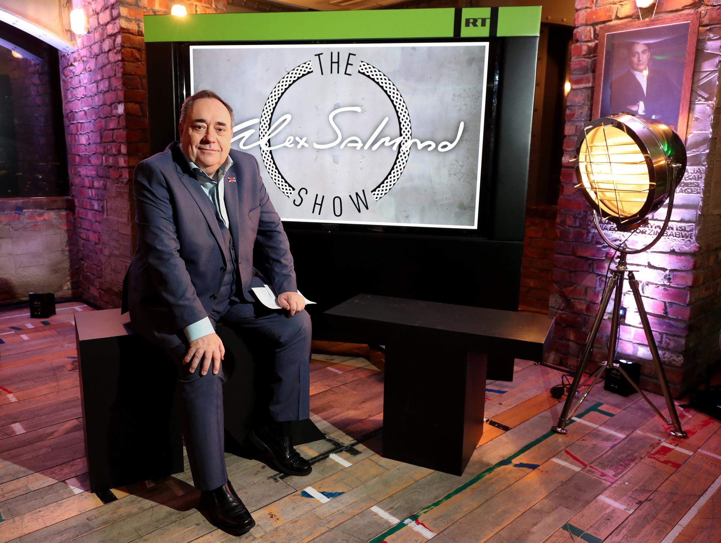 Alex Salmond during the launch of The Alex Salmond Show. Picture: Chris Radburn/PA Wire.