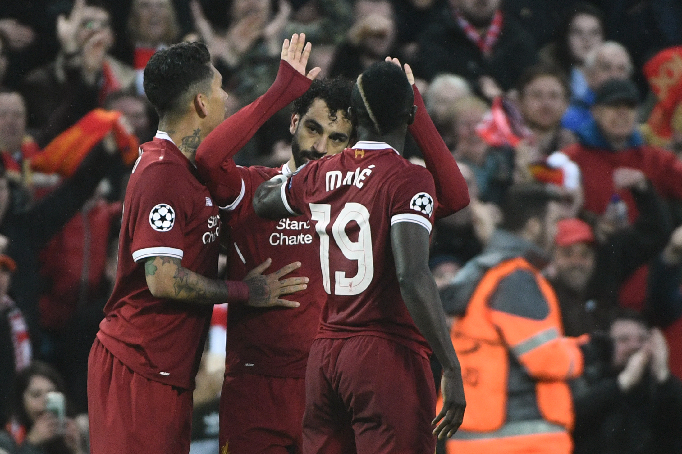 Mo Salah, Sadio Mane and Roberto Firmino are the men who provide the inspiration for Liverpool      Photograph: Getty