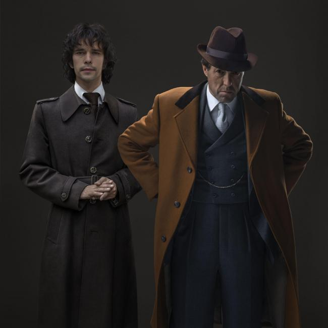 WARNING: Embargoed for publication until 00:00:01 on 11/05/2018 - Programme Name: A Very English Scandal - TX: n/a - Episode: n/a (No. n/a) - Picture Shows: ***EMBARGOED UNTIL 11th MAY 2018*** Jeremy Thorpe (HUGH GRANT), Norman Scott (BEN WHISHAW) - (C) B
