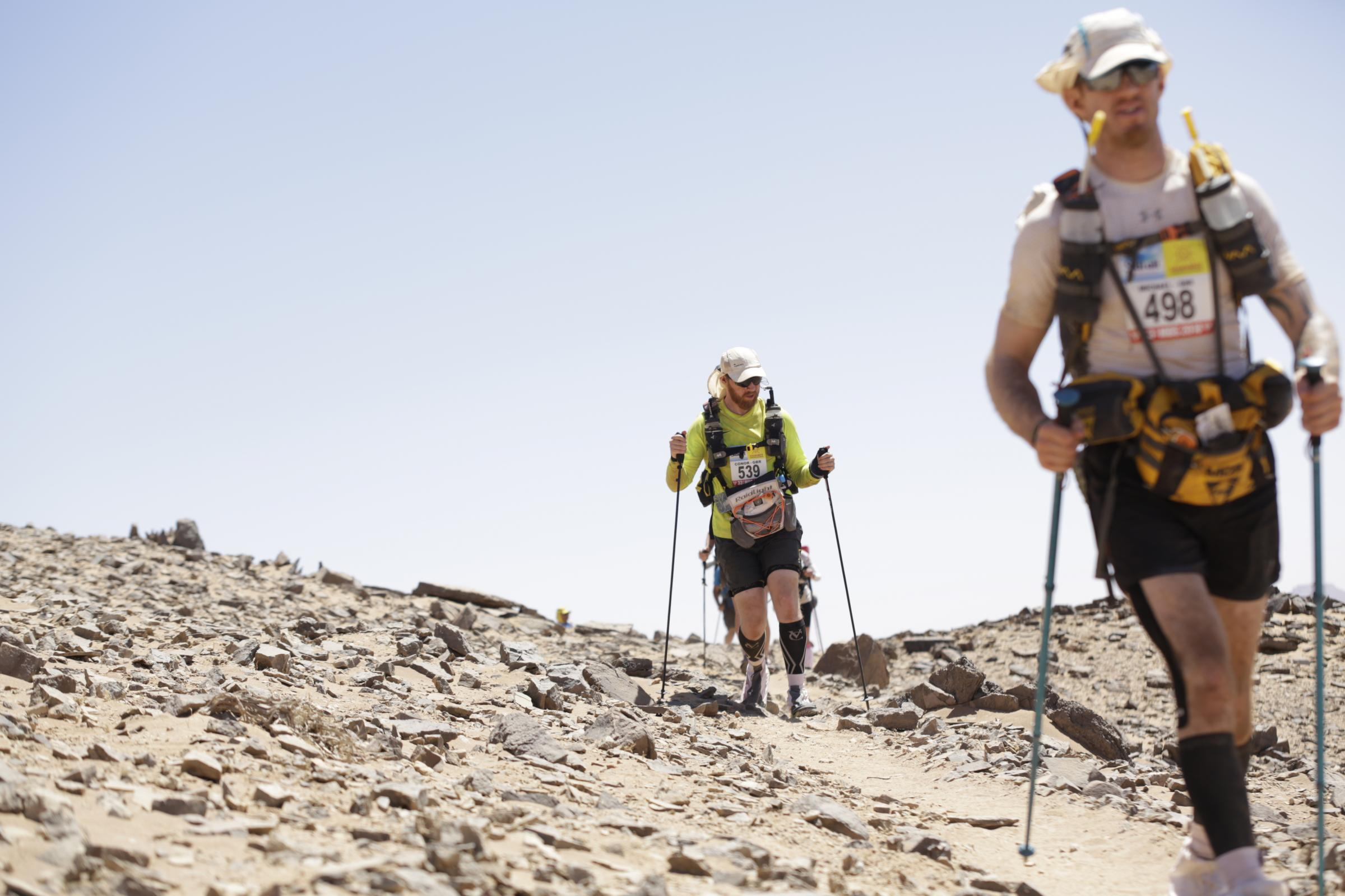 Conor traversed jebels and sand dunes as part of the intense ultra marathon..