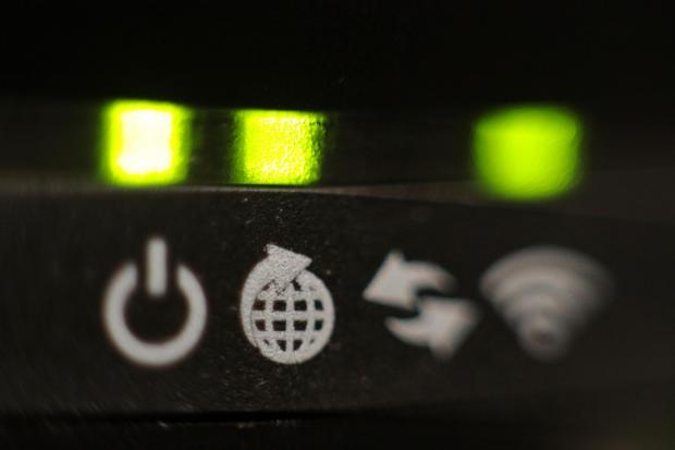 HeraldScotland: File photo dated 22/10/16 of the lights on the front panel of a broadband internet router.