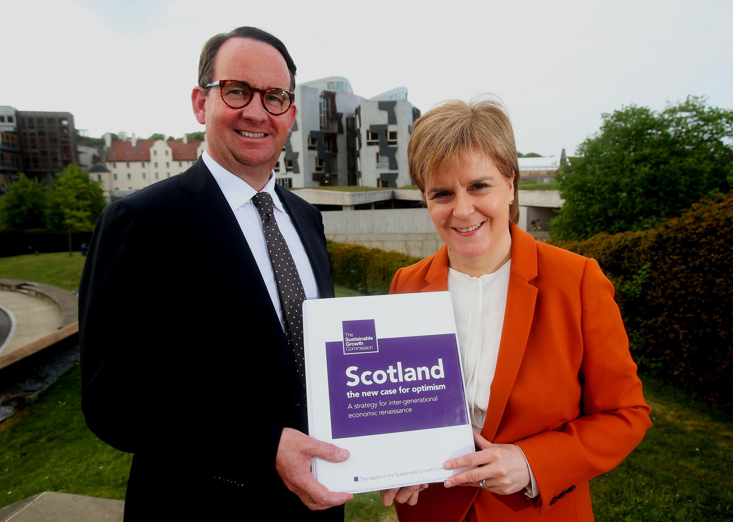 Growth Commission chair Andrew Wilson and Nicola Sturgeon