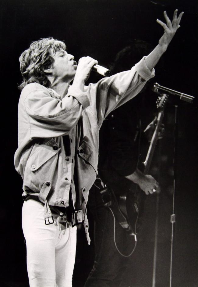 THOSE WERE THE DAYS 1982: Jagger, then as now, has Rolling
