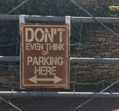 """Sign spotted in a Cotswold village with a name that adds a certain weight to the message – Lower Slaughter,"" says Gordon Smith."