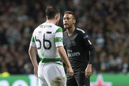 Celtic's Anthony Ralston stood up to Neymar when PSG were in Glasgow