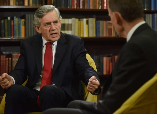Gordon Brown on BBC One's The Andrew Marr Show