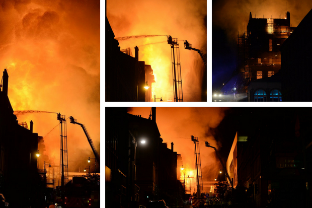 'How can this happen again?': Glasgow School of Art fire witnesses tell of their 'disbelief' as second fire ravages building