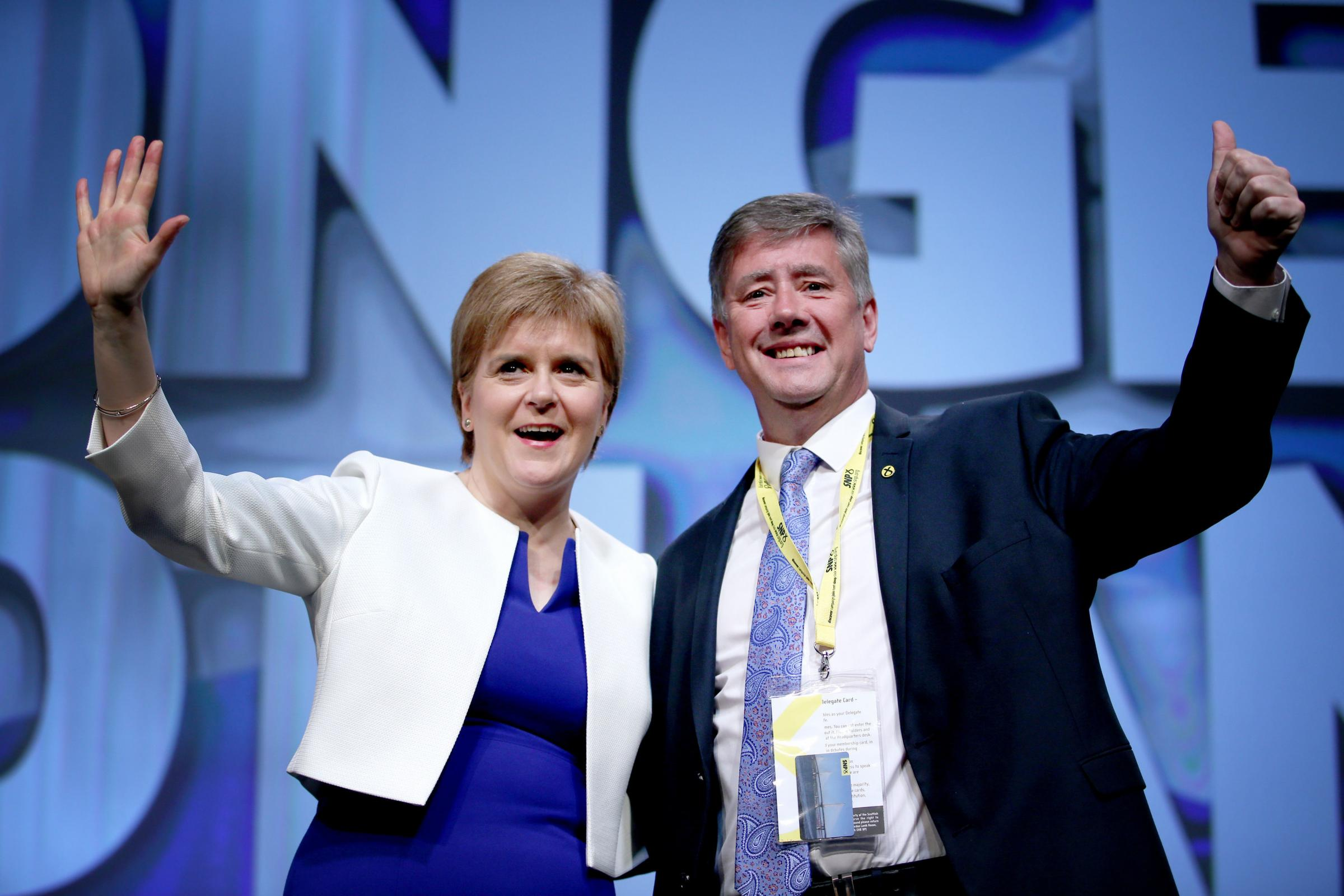 First Minister Nicola Sturgeon with the SNP's depute leader Keith Brown