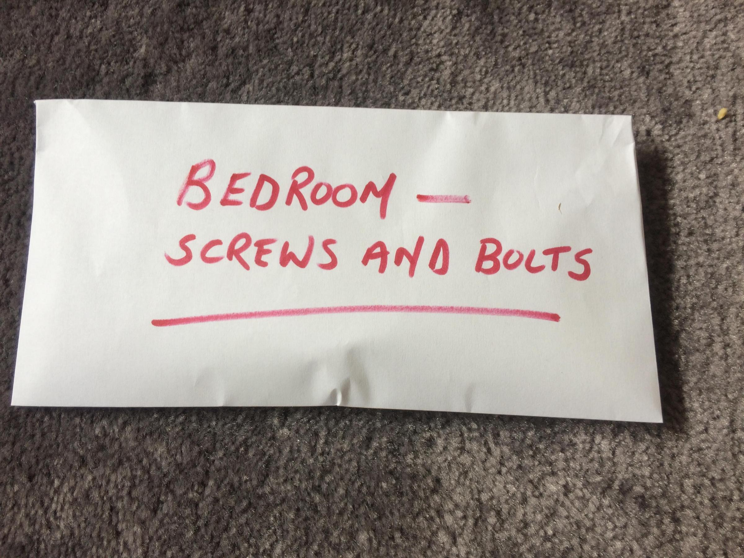 "Flitting reader John Mulholland hopes this envelope left for him by his wife is ""for me to put certain items in rather than some sort of criticism of my performance""."
