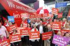 Vote Leave campaigners pictured in the run up to the 2016 referendum
