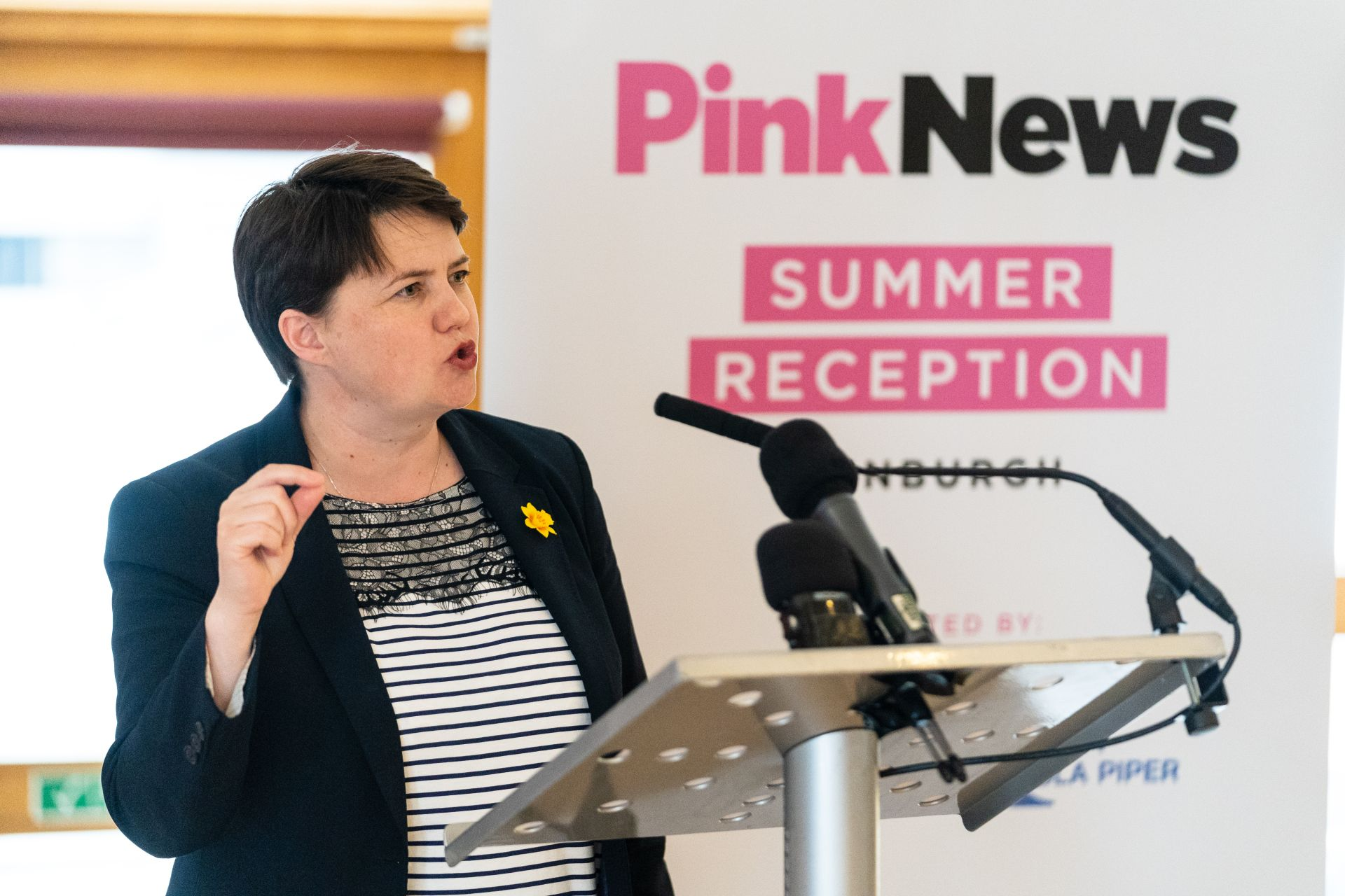 Davidson says baby gifts sign of progress on gay rights