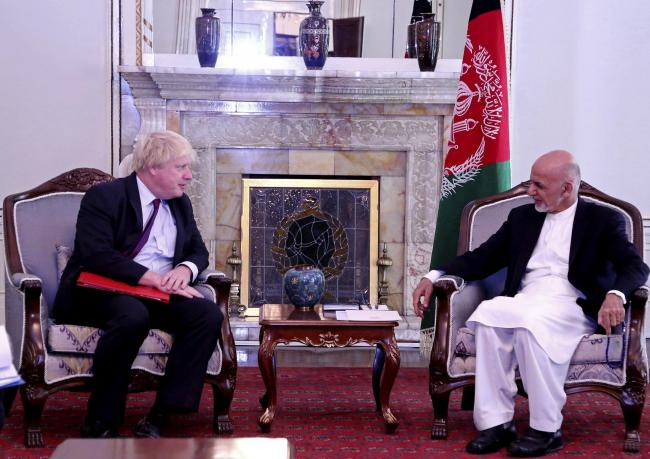 Kabul not Westminster: Johnson talks with Afghan leader Ghani but at home he was mocked for his absence