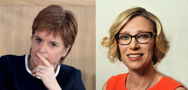 Nicola Sturgeon and Gillian Martin