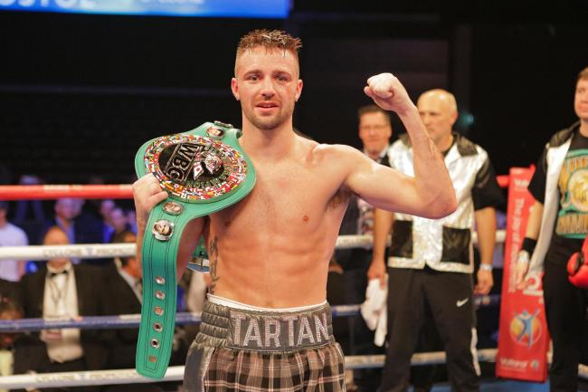 Josh Taylor with his IBF super lightweight belt
