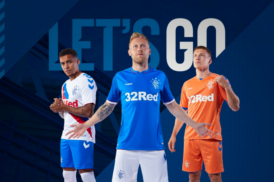 23a603937a8 In pictures  Rangers reveal new Hummel kits for 2018 19 season ...