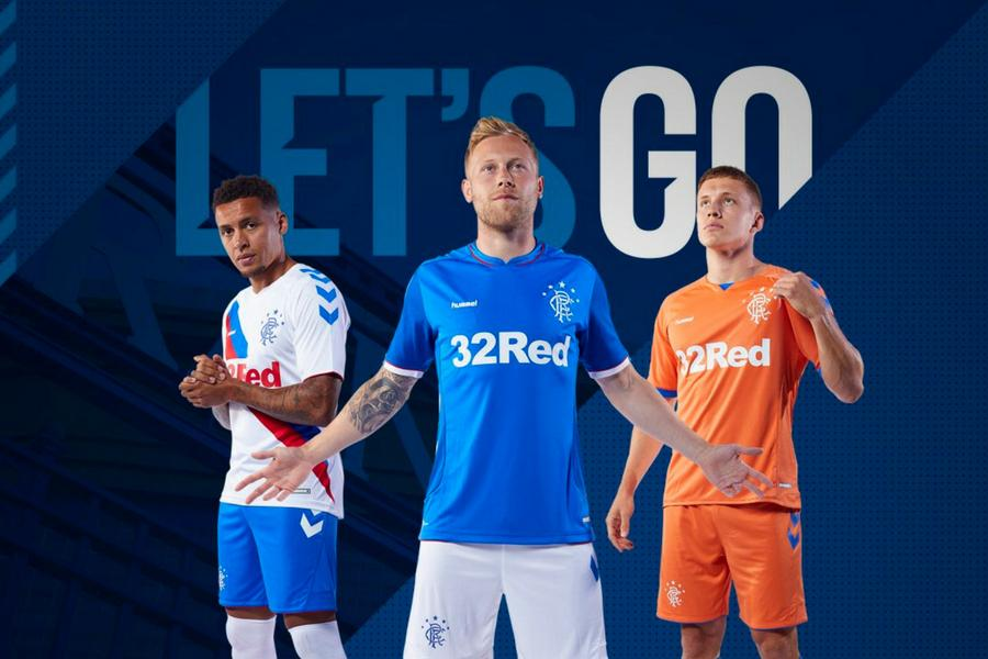 04aefa4fed2 In pictures  Rangers reveal new Hummel kits for 2018 19 season ...