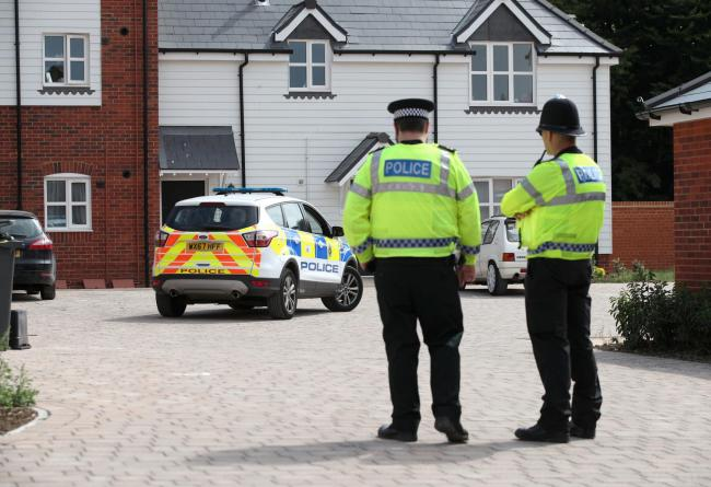 Police activity outside a block of flats on Muggleton Road in Amesbury, Wiltshire, where a major incident has been declared after it was suspected that two people might have been exposed to an unknown substance. PRESS ASSOCIATION Photo. Picture date: Wedn