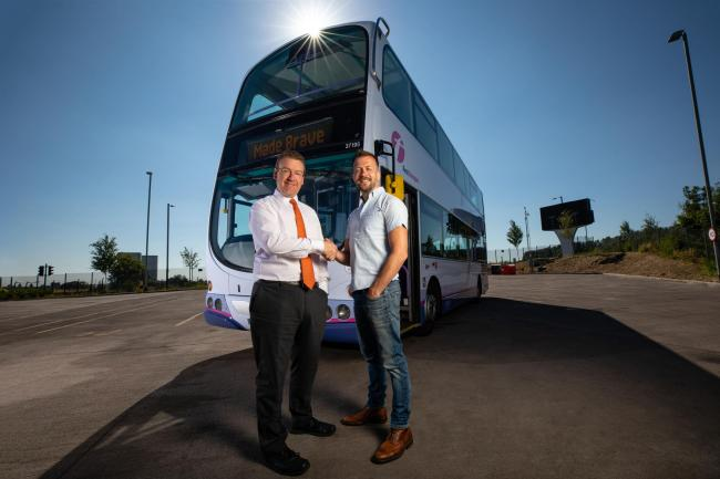Glasgow digital agency on track for record year heraldscotland andrew jarvis of first scotland left with andrew dobbie of madebrave malvernweather Choice Image