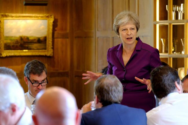 Collective position: after 12 hours of intense Chequers talks, Theresa May won the day