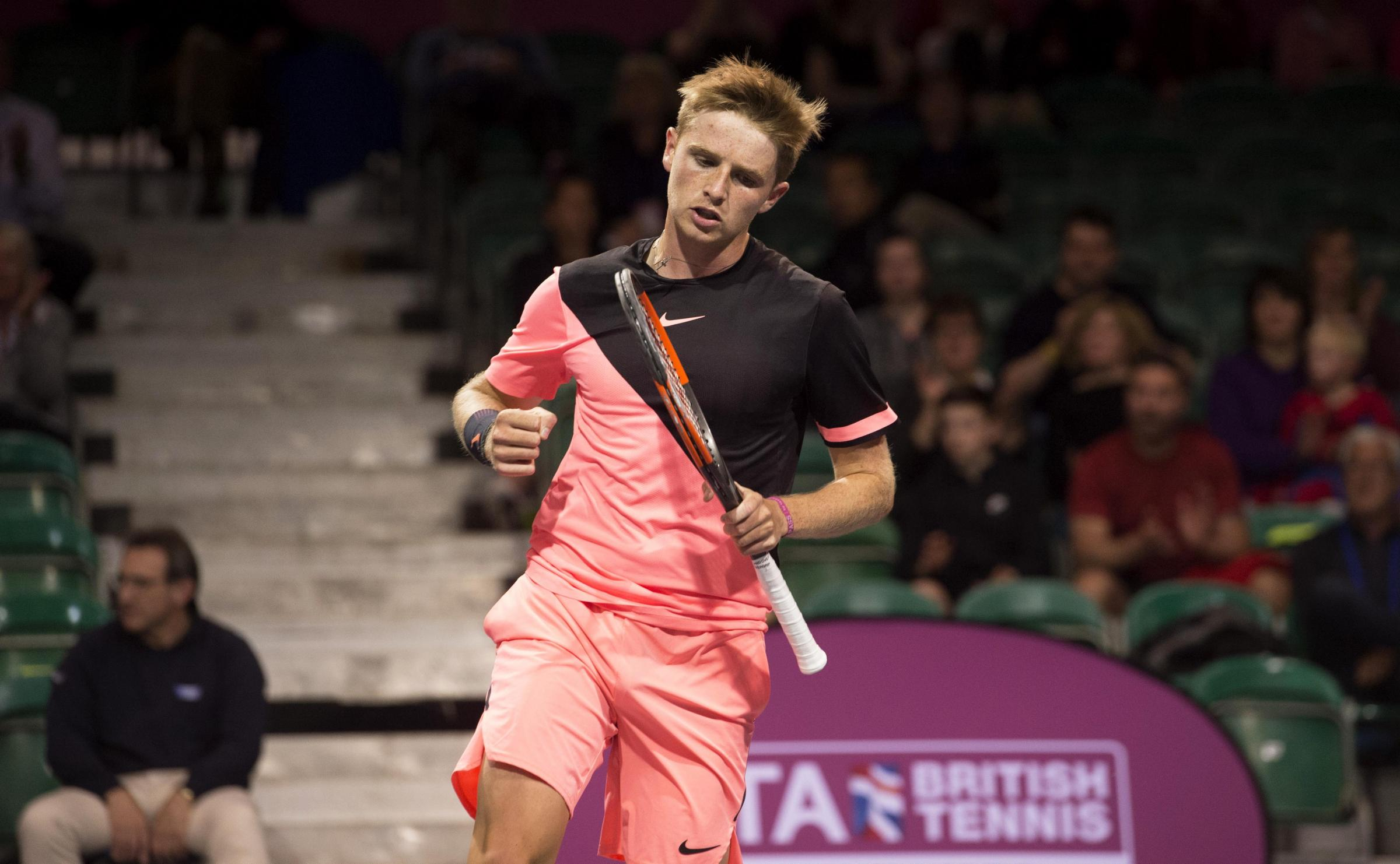 Aidan McHugh in action against David Guez in Glasgow. Pic: SNS
