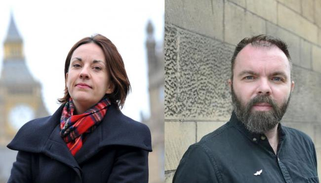 Kezia Dugdale and Wings Over Scotland blogger Stuart Campbell