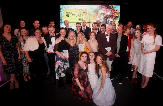 Nominees and winners gather at last year's culture awards held at SWG3 in Glasgow. Picture: Gordon Terris.