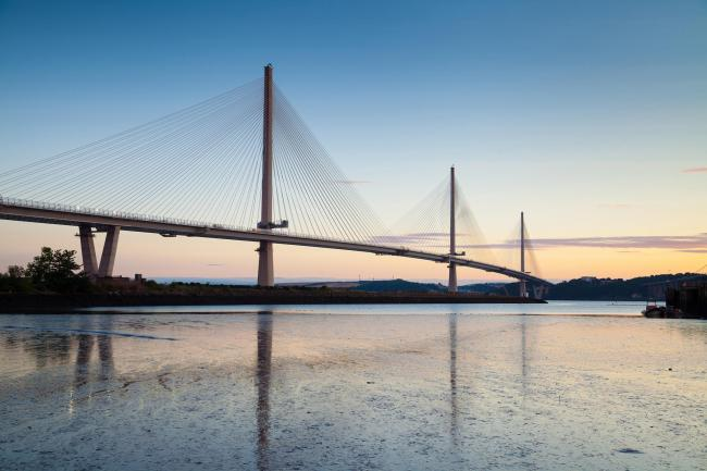 Queensferry Crossing from Port Edgar Maria