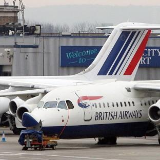 HeraldScotland: A damaged British Airways at City Airport in London after it made a crash landing