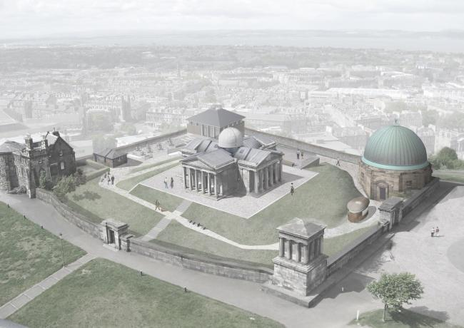 Collective's plan for the City Observatory on Edinburgh's Calton Hill.